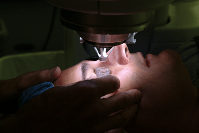 suction device on the eye